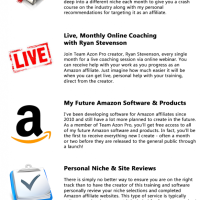 Team Azon Pro Membership Special by Ryan Stevenson Review-A Professional Amazon Affiliate Coaching Team, Including Reviewing Your Nice Choice and Your Complete Amazon Websites!