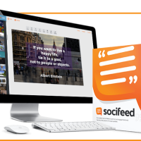 Socifeed | Automated Video and Traffic Software System by Brett Ingram and Mo Latif Review-The World's Fastest and 100% Automated Video Quote Maker and Messenger, Powered With 1-Click Mass Exposure For Free Traffic!