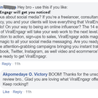 ViralEngagr Elite by Victory Akpos Review - Effortlessly Pull In Traffic, Leads and Sales From Facebook, Messenger and Twitter. Instantly Run Campaigns That Turn Clicks Into Leads, Impulse Sales and Long Term Customers.