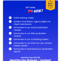 DFY Suite Agency by Joshua Zamora Review – Our New, Done-For-You, Social-Syndication System That Allows You To Dominate Google and Youtube Without Doing Any of The Work Yourself!