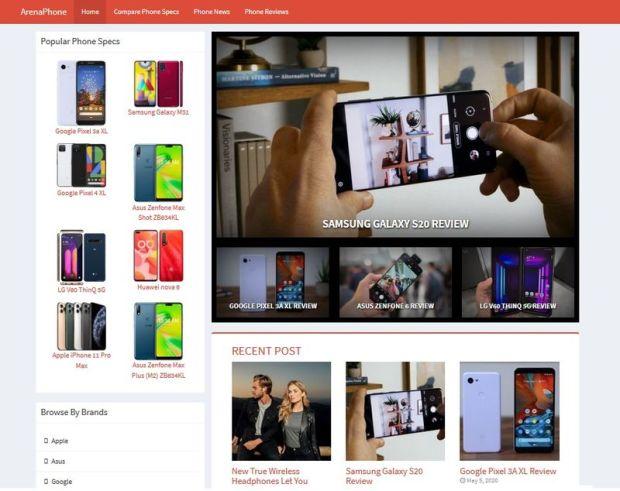 ArenaPhone WP PhoneSiteBuilder by BCBiz (WpThemePlugin.com)