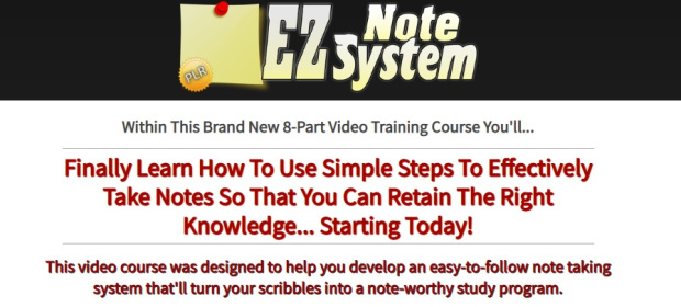 EZ Note System - PLR Videos by Jason Oickle
