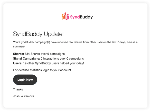 SyndBuddy 2.0 2k by Joshua Zamora