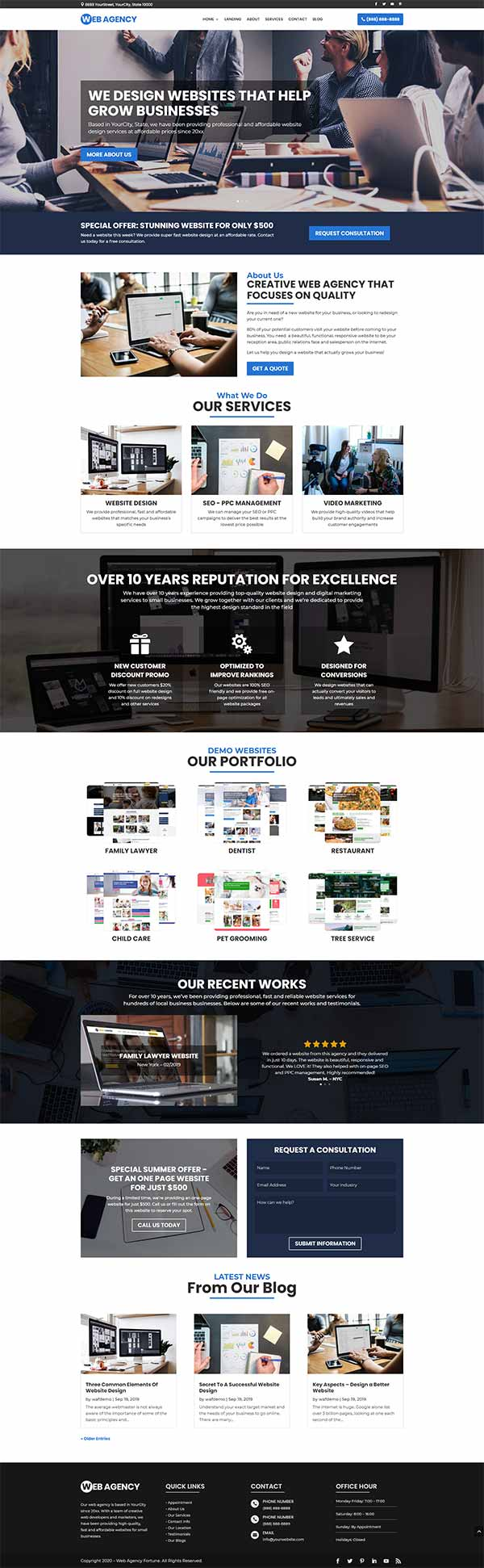 Web Agency Fortune by Mario Brown